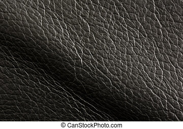 Leather texture background - Black leather texture...