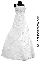 Wedding dress - Modern white wedding dress isolated on white...