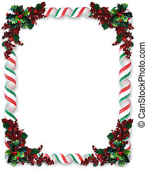 Christmas Border Ribbon Candy - Image and illustration...