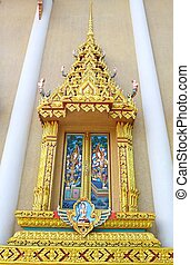 Thai style window of temple