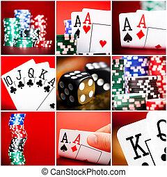 set of  scenes in casino