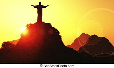 Corcovado Sunset 1 - Corcovado Mountain Cristo Redentor...