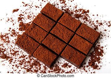Chocolate Truffle - Chocolate truffle with chocolate powder.