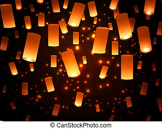 Paper Lantern Lights - Bright Hope Paper Lantern...