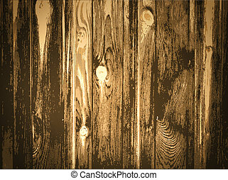 Wooden Background - Illustration of Natural Wooden...