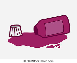 Medicine Bottle Spilled - Purple medicine bottle spilled...