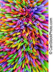 Drinking straw closeup Abstract background