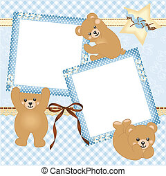 Baby boy photo frame - Scalable vectorial image representing...