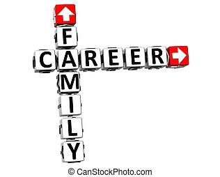 3D Family Career Crossword