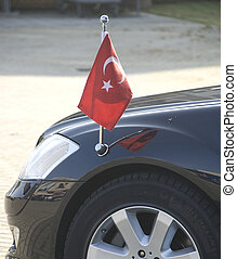 dilpomat - the car of a diplomat, Turkish flag