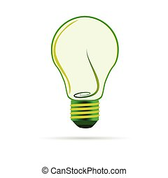 green bulb vector illustartion