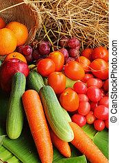 Fresh vegetables - fruit variety.