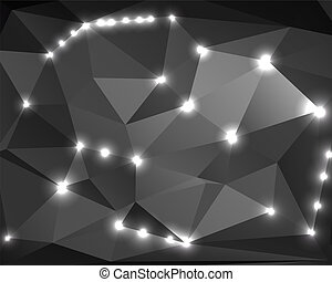 Abstract monochrome background polygon 2 - Polygon abstract...