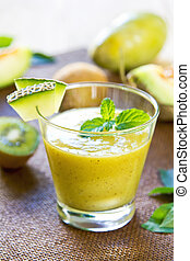 Melon with Kiwi smoothie