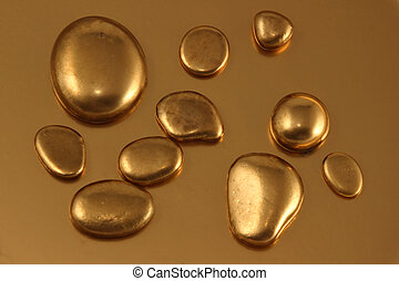 Gold Pebble contemplkation of richness - Richness of gold...