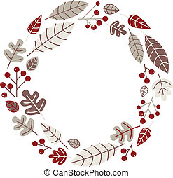 Xmas retro holiday wreath isolated on white - Retro xmas...