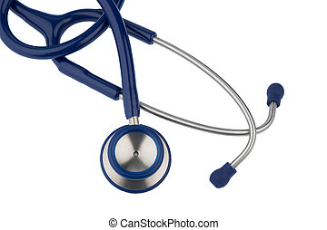 stethoscope against white background, symbol photo for...