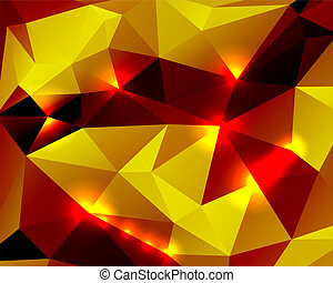 Bright abstract background polygon