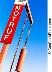 emergency sign with lettering - emergency sign, symbol photo...