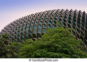 Esplanade - Theatres on the Bay; Singapore; photographed in...