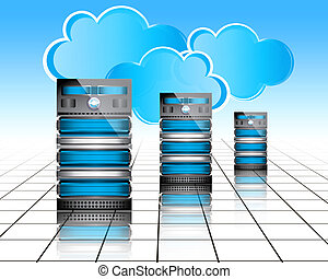Datacenter servers - cloud computing concept, secure...