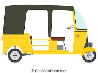 Tuktuk rickshaw. - Three wheeled motor rickshaw.