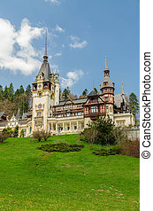 Peles Castle In Sinaia, Romania It is a Neo-Renaissance...