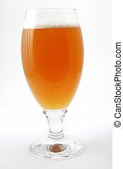 glass of beer - glass of german beer with foam foam and...