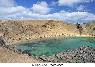 Papagayo beach in Lanzarote. - Papagayo beach in Lanzarote...