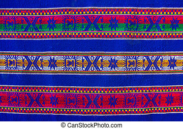 Bolivian pattern - Blue national pattern of bolivian...