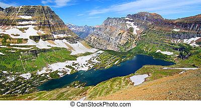 Hidden Lake Glacier National Park - Hidden Lake and alpine...