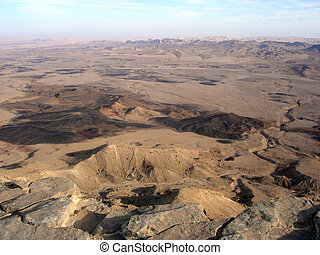 Ramon Crater Makhtesh Ramon - Israel - Aerial view of Ramon...