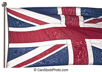 British flag isolated on white background