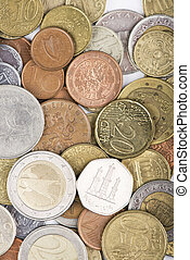 assorted coins from different countries - Coins from...
