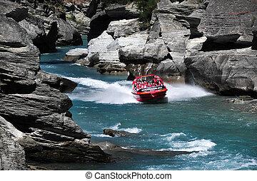 Jet Boat in Queenstown New Zealand