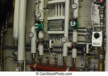 Heating system manometer - Heating system pressure gauge in...