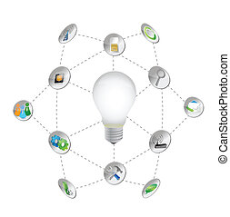 business symbols and icons lightbulb illustration