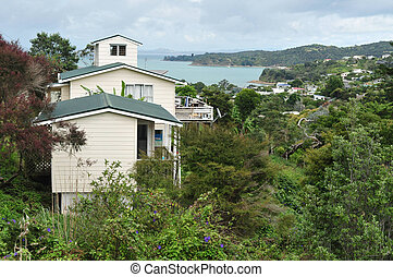 Waiheke Island New Zealand - WAIHEKE, NZ - FEB 17:View of...