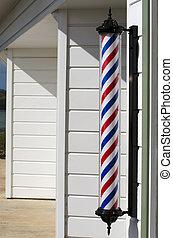 Barber Shop - New barber shop pole.