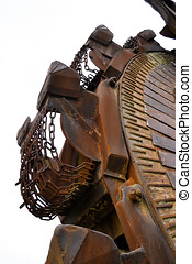 Detail of a coal excavator