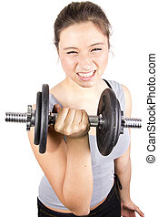 fitness girl - body building girl in gim