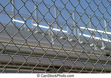 Bleachers Behind Fence