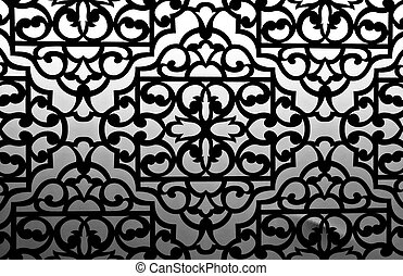 Patterned texture black and white color process