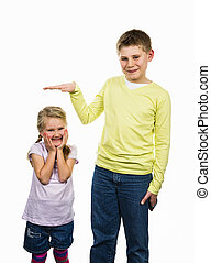 what is your size ? - childrens girl and boy with a...