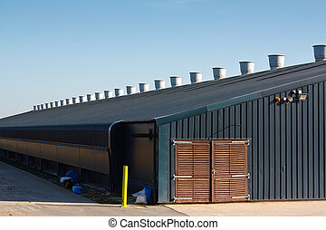 Commercial poultry farming building - chicken shed a large...