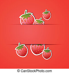 Vector Background with Strawberries