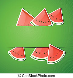 Vector Background with Watermelon