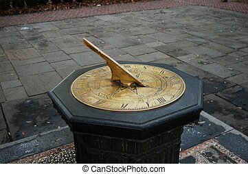 Sundial in a small park