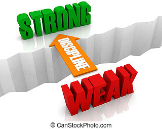 From WEAK to STRONG. - Discipline is the bridge from WEAK to...