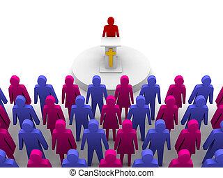 iglesia,  pastor,  sermón, predicador